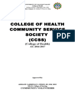 College of Health Community Service Society Final