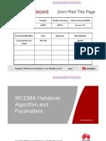 WCDMA Handover Algorithm and Parameters