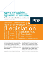 Effective implementation of Resolution 1540 in Africa