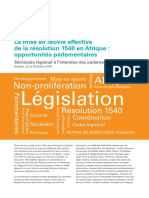 La mise en oeuvre effective de la résolution 1540 en Afrique