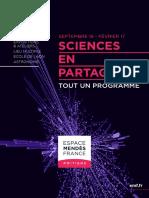 Programme de L'Espace Mendès France, septembre 2016