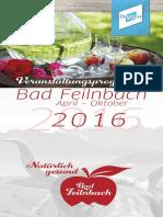 Veranstaltungen April - Oktober 2016