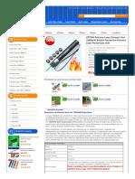 Pointeur Laser Puissant Vert 10000mW