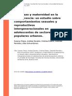 Susana Checa, Andrea Daverio, Cristin (..) (2007). Embarazo y Maternidad en La Adolescencia Un Estudio Sobre Comportamientos Sexuales y r (..)