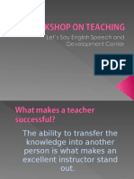 WORKSHOP ON TEACHING.ppt
