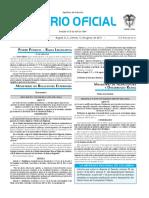 Diario oficial de Colombia n° 49.963. 12 de agosto de 2016