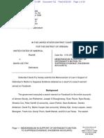 06-20-2016 ECF 742 USA v DAVID FRY - Memorandum in Support of Motion Re Facebook Accounts
