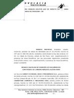 Ação Cautelar de Exibição de Documentos - Renato Matheus 1
