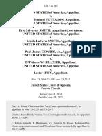 United States v. Stanley Bernard Peterson, United States of America v. Eric Sylvester Smith, (Two Cases). United States of America v. Linda Lavern Smith, United States of America v. Paul James Coates, Jr., United States of America v. D'TiTinius W. Frazier, United States of America v. Lester Irby, 524 F.2d 167, 4th Cir. (1975)