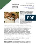 PCMS Parent Involvement Plan 16-17