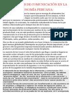 Medios de Comunicaciòn en La Economìa Peruana