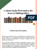 Slide Preservação dos livros