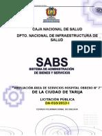 Borrador DBC Servicios Tarija