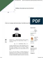 ASafety » Créer Un Compte Administrateur Invisible Sous Windows (XP, 7, 8)