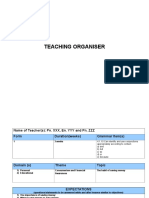 Teaching Organiser Sample 1