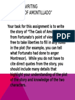 cask of amontillado narrative writing assignment