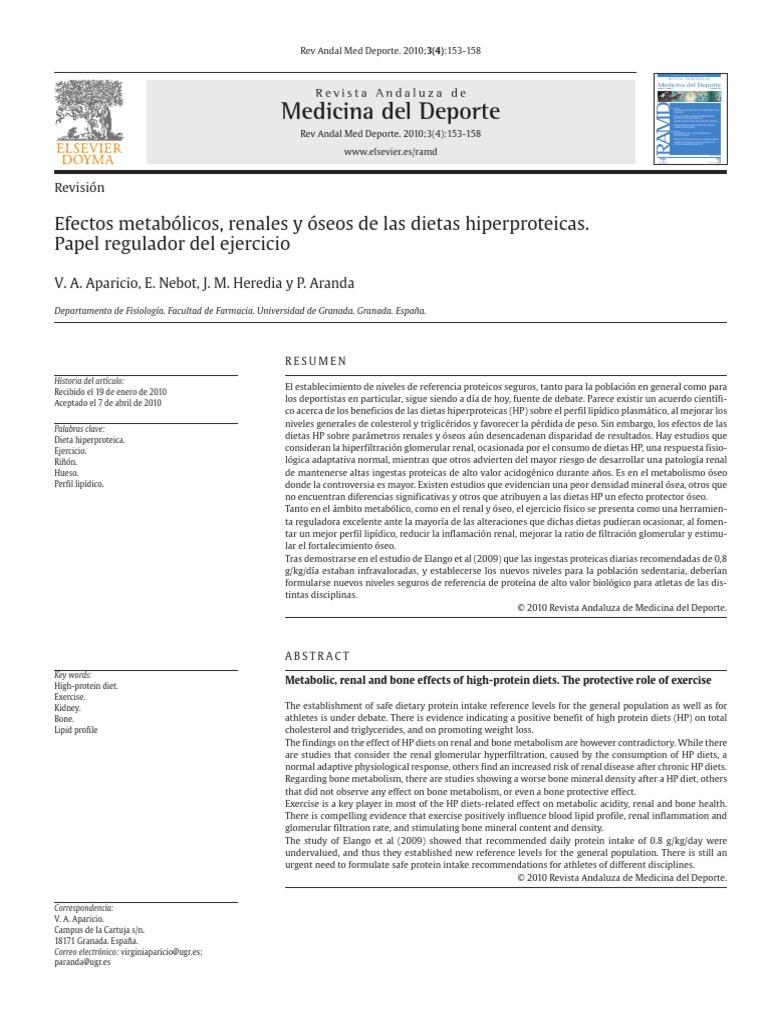 Dieta hiperproteica consecuencias pdf