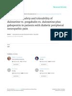 Duloxitene Pregabaling Saftey Study in J Clin Prac 2014