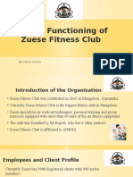 Overall Functioning of Zuese Fitness Club