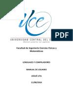 Manual de Usuario LEX Y YACC