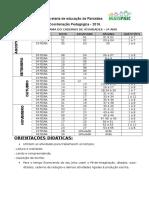 Cronograma Para Trabalhar o Caderno Do 2º Ano 2º Semestre