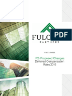 409A and 457 Updates Fulcrum Partners LLC;  IRS Proposed Changes Deferred Compensation Rules 2016