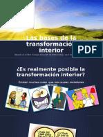 Las Bases de La Transformación Interior