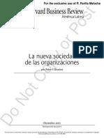 La Nueva Sociedad de Las Organizaciones PD