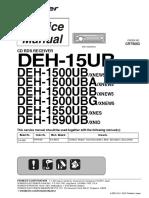 Pioneer Deh-15ub Deh-1500ub Deh-1500uba Deh-1500ubb Deh-1500ubg Deh-1550ub Deh-1590ub Crt5053
