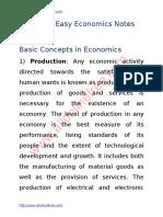 Economics Notes Important Questions Definitions