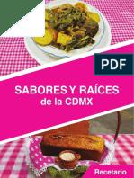 Recetario de la CDMX