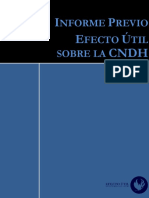 Informe Previo Efecto Útil sobre la CNDH México
