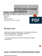 non-nutritive sweeteners and weight status pptx