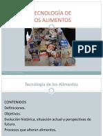 Tecnología Alimentos Inicio 2016