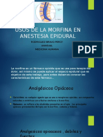 Usos de La Morfina en Anestesia Epidural