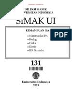 Simak Ui 131 - 2013 - Kemampuan Ipa