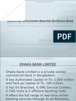 Statistical Application Analysis on Dhaka Bank