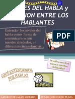 Revista,Los Niveles Del Habla y La Relacion Entre Los Hablantes