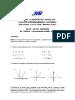 Taller 1 Cálculo Dif
