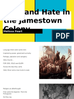 Love and Hate in the Jamestown Colony