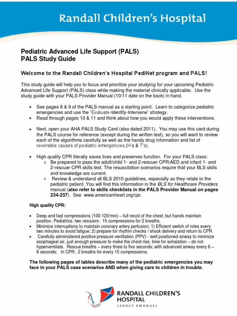Pals study guide 2011 online user manual pals study guide shock circulatory cardiopulmonary resuscitation rh scribd com pals study guide 2017 aha pals study guide 2018 pdf fandeluxe Choice Image