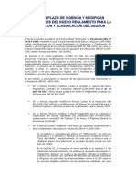 Amplian Plazo de Vigencia y Modifican Disposiciones Del Nuevo Reglamento Para La Evaluacion y Clasificacion Del Deudor