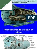 Procedimientos de Arranque Paro de Calderas y Operación