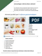 Dieta Per Reflusso Gastroesofageo- Cibi Da Evitare e Alimenti Consigliati