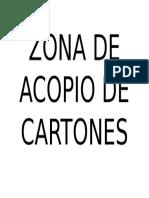 Zona de Acopio de Cartones