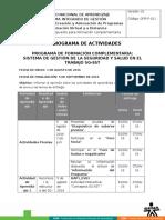 Cronograma Actividades Sg Sst Agosto2016 (4)(1)