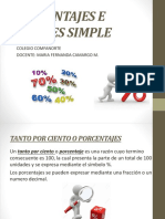 Porcentajes e Interes Simple