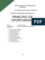 Trabajo de derecho sobre el principio de oportunidad