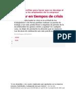 Motivar en Tiempos de Crisis
