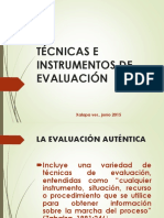 Bloque IV - 3 Técnicas e Instrumentos Evaluación Autentica